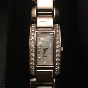 Diamonique stainless steal watch